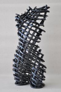 Keramik-skulptur: Torso schwarz.